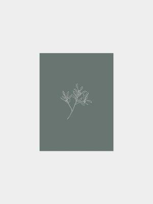 Kaart met hand geïllustreerde eucalyptus tak