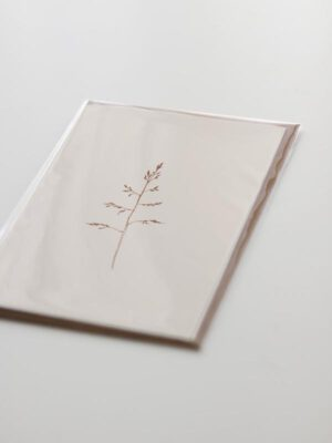 wenskaart met hand geïllustreerd gras